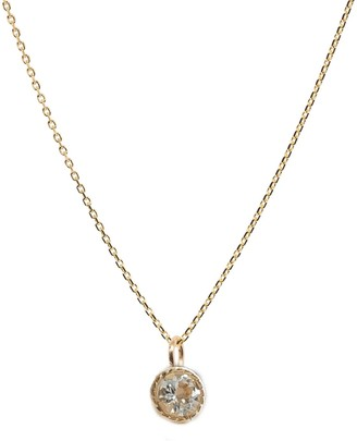 Lily Flo Jewellery White Sapphire Halo Necklace On Solid 9Ct Gold