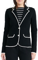 Lauren Ralph Lauren Petite Stretch-Cotton Sweater Blazer
