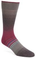 Bugatchi Men's Ombre Stripes Crew Socks