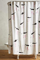 Anthropologie Beach Gull Shower Curtain