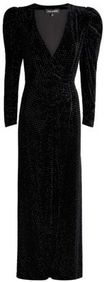 retrofete Agnes Crystal-Embellished Wrap Dress