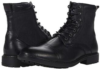 Steve Madden Bunsin Lace-Up Boot (Black) Men's Shoes