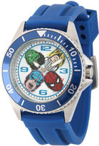 Marvel Mens Honor Blue Rubber Strap Watch