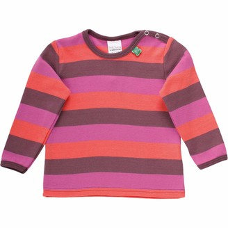 Green Cotton Fred's World by Baby Girls' Multi Stripe T Shirt