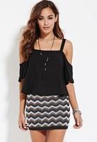 Forever 21 FOREVER 21+ Beaded Zigzag Mini Skirt