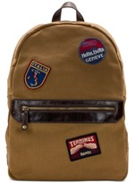 Patricia Nash Men's Waxed Canvas Patch Backpack