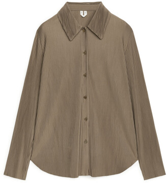 Arket Pleated Jersey Shirt