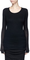 James Perse Double layered rib knit sweater
