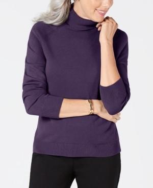 Karen Scott Luxsoft Turtleneck Sweater, Created for Macy's