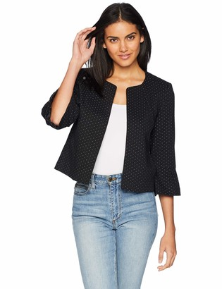 Nine West Women's Ruffle Sleeve Knit Jacket