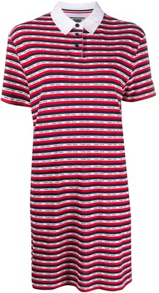 Tommy Jeans Logo Striped Polo Shirt Dress