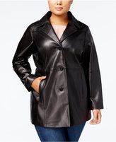 Anne Klein Plus Size Leather Topper Jacket