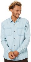 Swell White Wash Ls Shirt Blue