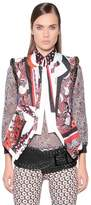 Just Cavalli Printed Techno Vest With Decorative Trim
