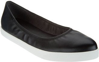On Lori Goldstein Collection Slip Leather Flat with Elastic