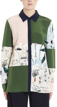 Tory Burch Colour Block Patchwork Shirt