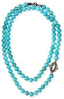 Armenta Old World Magnesite Scroll Necklace, Turquoise