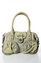 Botkier Beige Embossed Leather Silver Tone Accented Satchel