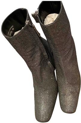 Dorateymur Silver Glitter Ankle boots