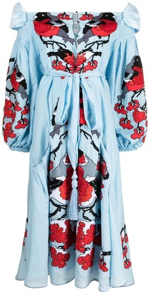 Yuliya Magdych Bullfinches embroidered dress
