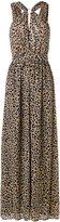MICHAEL Michael Kors leopard print gown - women - Polyester - 0