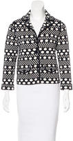 Tory Burch Dot-Patterned Cropped Blazer