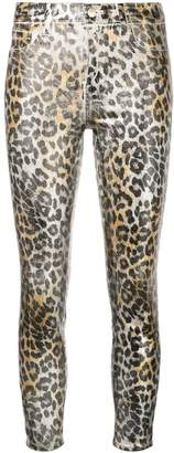 L'Agence high-waisted leopard print jeans