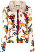 Twin-Set floral embellished cardigan - women - Cotton/Modacrylic/Polyester/Wool - M