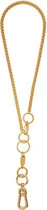 Martine Ali SSENSE Exclusive Gold Myles Boxer Necklace
