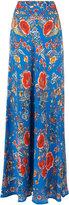 Roberto Cavalli embroidered maxi skirt - women - Silk - 46