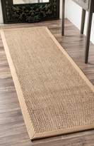 nuLoom Elijah Seagrass with Border Runner Area Rugs