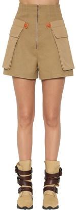 Loewe Cotton Canvas Cargo Shorts