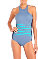DKNY A Lister Racerfront One-Piece Swimsuit