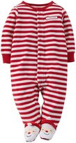 Carter's Striped Holiday Bodysuit (Baby)-Santa-9 Months