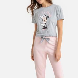 Mickey Minnie Print Short-Sleeved Pyjamas