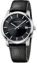 Calvin Klein Infinite Silver / Leather Analog Quartz Women's Watch K5S311C1