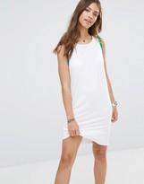 Boohoo Pom Pom T-Shirt Dress
