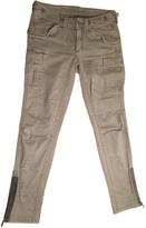 BCBGMAXAZRIA Khaki Cotton - elasthane Jeans