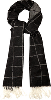 Balenciaga Windowpane-checked cashmere scarf