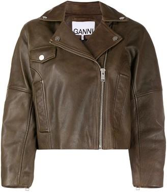 Ganni Cropped Biker Jacket