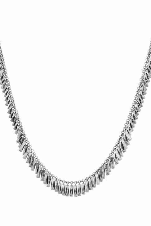 House Of Harlow Pyramid Bar Necklace in Silver
