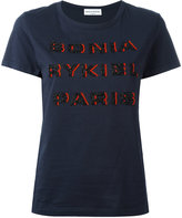Sonia Rykiel beaded logo T-shirt