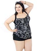 Emmas Style Women's Plus-Size One Piece Shaping Body Swim Dresses Swimsuit Swimwear