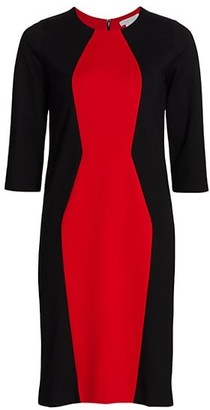 Joan Vass Petite Colorblock Sheath Dress
