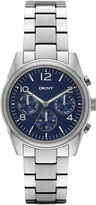 DKNY Crosby Stainless Steel Navy Chrono Watch