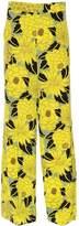 Etro Floral Printed Silk Crepe De Chine Pants