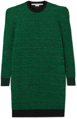 Stella McCartney Striped Wool-jacquard Dress