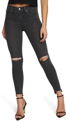 Good American Good Legs Shadow Pockets Ripped Skinny Jeans
