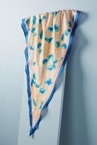 Anthropologie Blue Silk Necktie Scarf