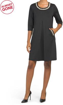 Three-quarter Sleeve Jersey Dress